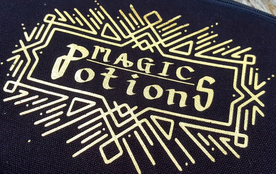 Magic Potions distressed look Large Makuep  Bag