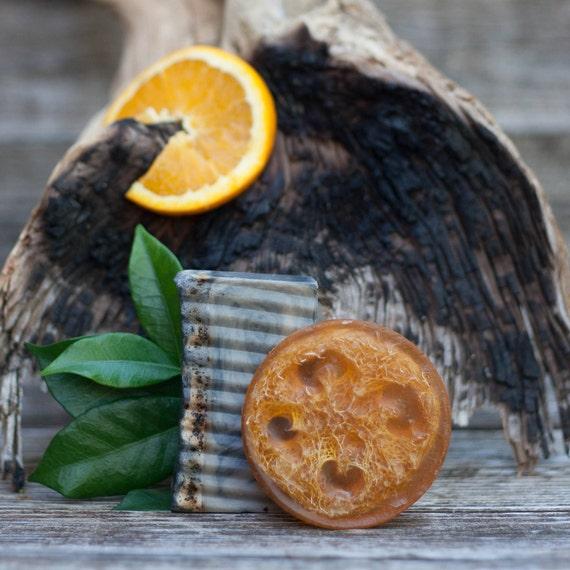 Texas Gypsy (Patchouli Orange & Spice) Natural Loofah Exfoliating Glycerin Soap