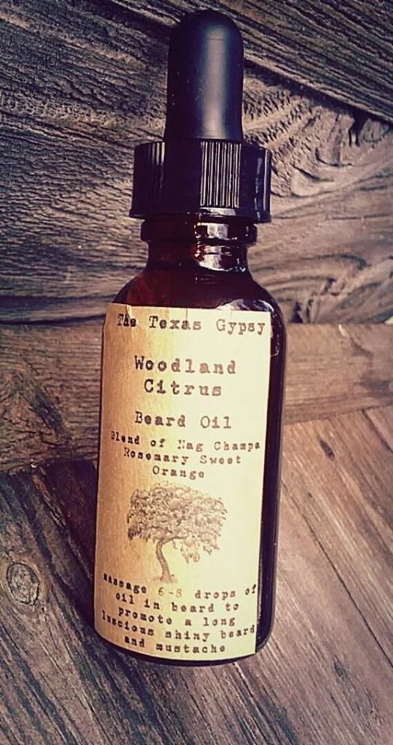 Woodland Citrus  Beard Oil 1 oz.(Citrus Nag Champa Eucalyptus) *WHOLESALE*