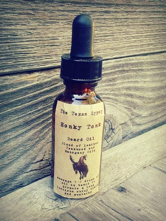 Honky Tonk Beard Oil 1 oz. (Teakwood Mahogany and leather)*WHOLESALE*