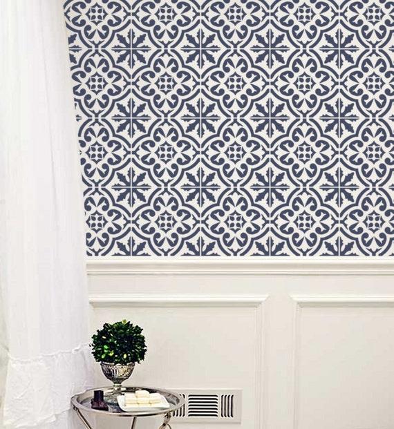 Marokkanische Wand Schablone Fliesen Muster Nr. 3