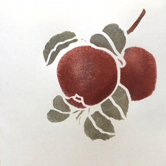Apple stencil for small projects small botanical stencil 4 etsy image 0 m4hsunfo