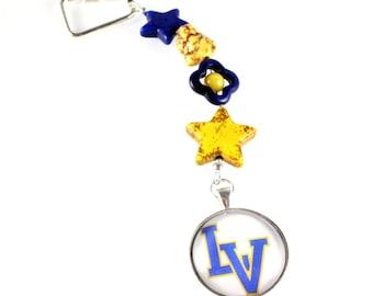 High School Keychains, Graduation Gift, Public School, Private School, Custom Order, School Colors, Spirit Slogan, School Mascot