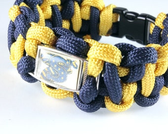 Paracord Bracelet with School Logo, Unisex, Stephenville Yellowjackets, Custom Made, Your School