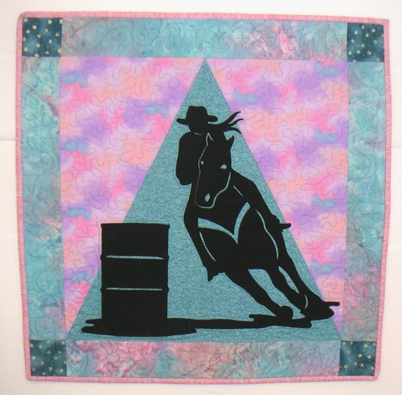 Turn and Burn Barrel Racer wall hanging Country Western