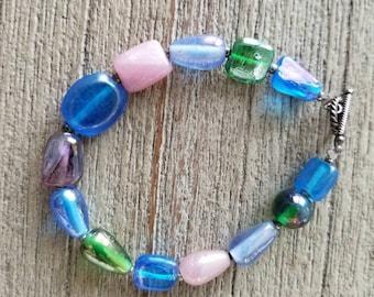 Stone Bracelet - Toggle Clasp