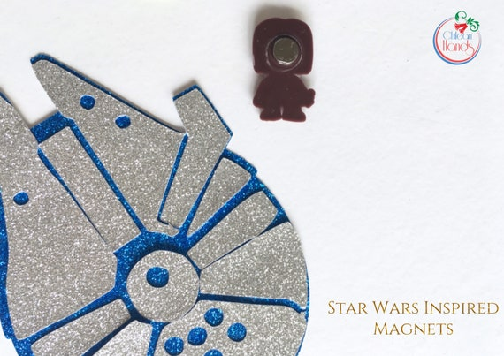 12 pcs Star Wars Inspired pvc Fridge magnets plus two magnet cards NEW