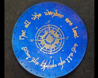Not all who wander are Lost 3.8 inch Leather Patch