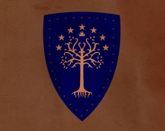White Tree of Gondor Leather Patch