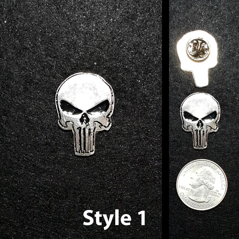 Hand Cast One Inch Pewter Punisher