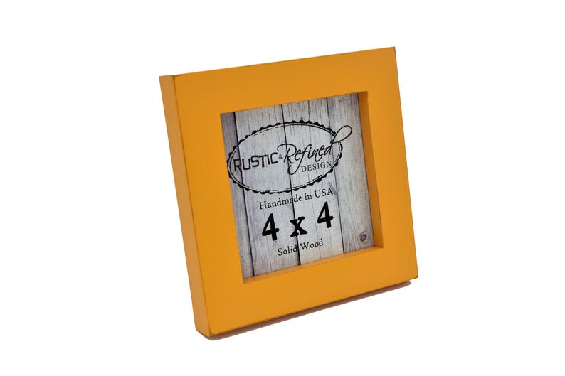 Wall Decor 4x4 1 Gallery Picture Frame Mango Free Shipping Instagram Home Decor Wedding Favors Handmade Solid Wood