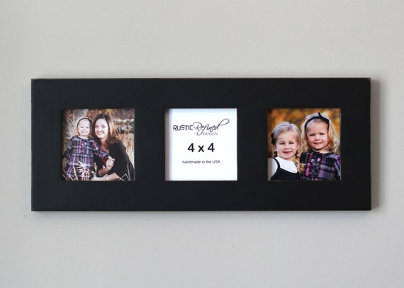 Multiple Opening Frame With 3 4x4 Openings Black Or White Etsy