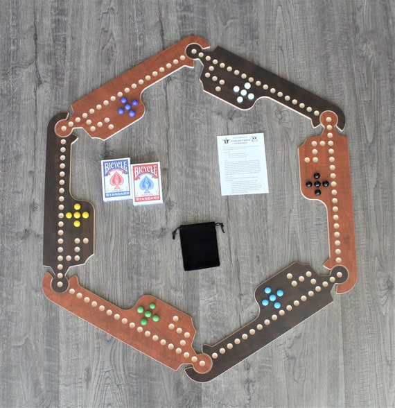 Jokers and Marbles Game Brown 2-8 Player Playing Cards Board Game