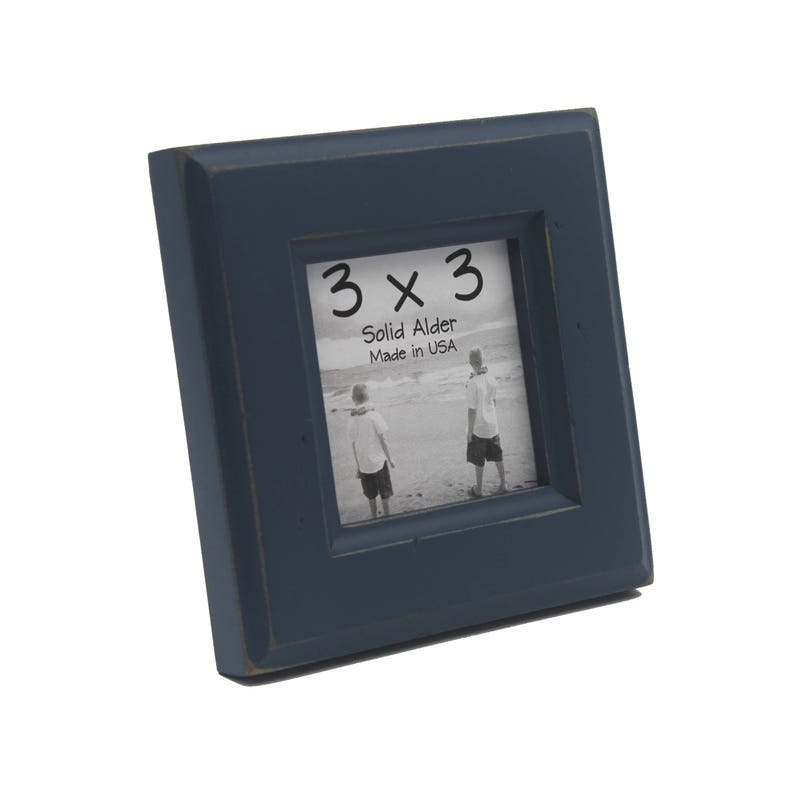 3x3 Moab Picture Frame - Navy Blue - Instagram, Home Decor, Wedding Favors,  Wall Decor, Solid Wood, Handmade, Free Shipping