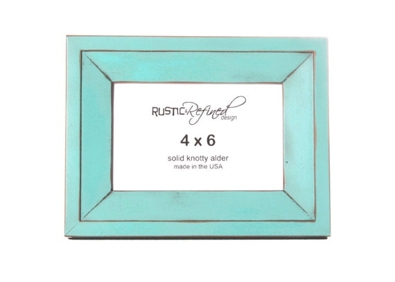 4x6 haven picture frame turquoise picture frame home etsy