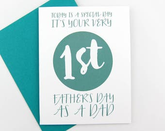 First Father's Day: Father's Day Card