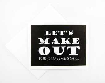 For Old Time's Sake | Love Card | Like Card | Anniversary Card | Greeting Card | Funny Card | Valentine's Day Card | Card for Him