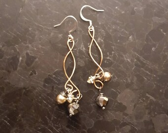 Elegant and Classy Wire Wrapped Earrings