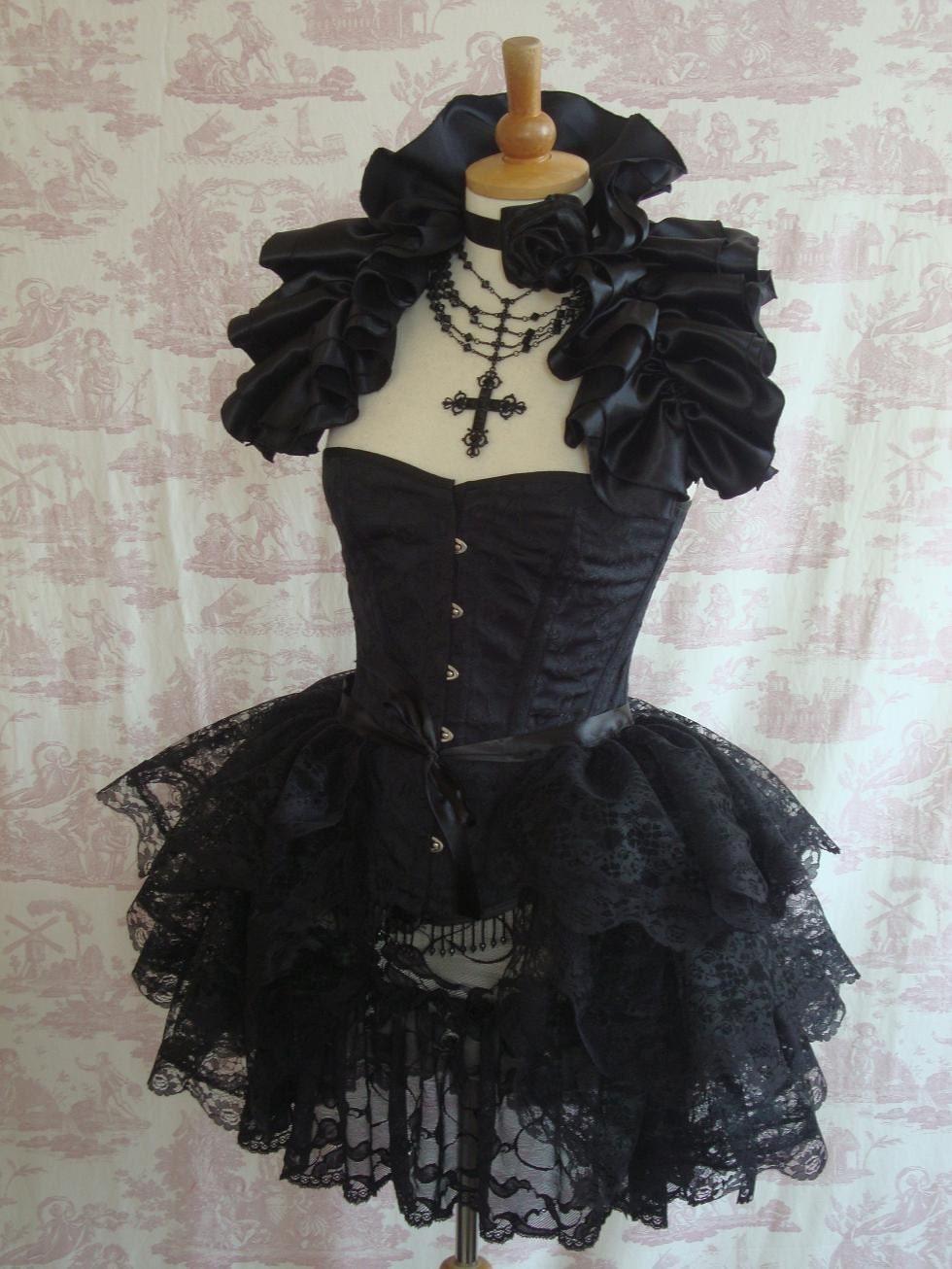 d2a3e41b3fa95 PLUS SIZE Lace Burlesque Bustle Skirt Gothic Steampunk BUSTLE