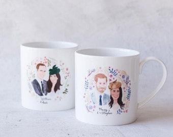 Harry and Meghan & William and Kate, Royal Wedding Commemorative Mug Set