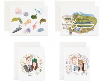 Royal Wedding Assortment, Stationery Set, 8-pack