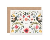 Scandinavian floral Thank You card