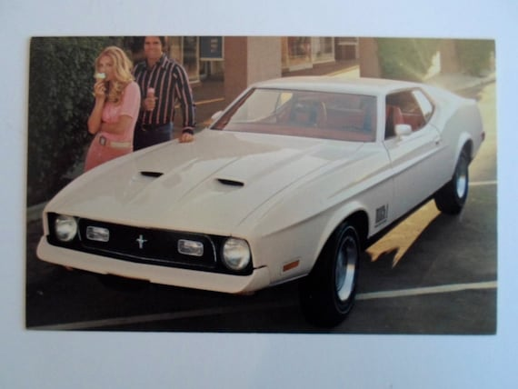 Vintage 1972 Ford White Mustang Mach 1 2 Door Sports Roof Etsy