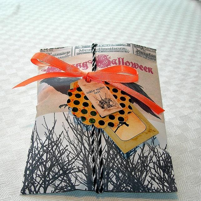 Hallowen Bag 2 Gift wrap Digital Bag Goodie bag DIY Bag Print and Cut Spooky Boo Trick or Trea