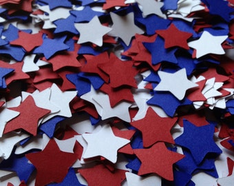300 Star Confetti Pack:  4th of July, Independence Day, Baby Shower, Custom Party Confetti, Scrapbooking, Weddings, Table Decor