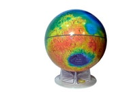 "Vintage Mars Topography Globe 12"" Inch Large Model Globe With Clear Acrylic Stand Solar System Educational Planet Sky & Telescope"