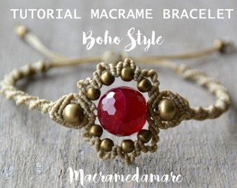 Macramé Bracelet Tutorial / Boho Macramé Bracelet  by Macramedamare