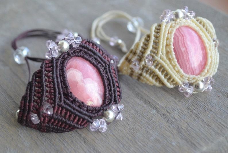 Wrap a Stone in a Bracelet  Pdf Macrame Tutorial  Pattern Macramedamare  Macrame wrapping Tutorial