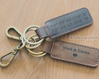 Personalized Custom Leather Keychain 363a733ed349