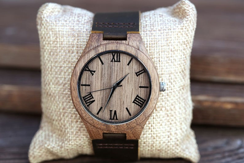 Wooden WatchWood WatchPersonalized Wood WatchPersonalized image 0
