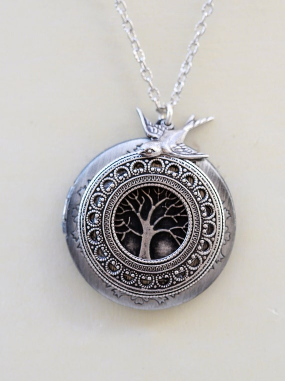 Medaillon Baum des Lebens Medaillon Schmuck Anhänger | Etsy