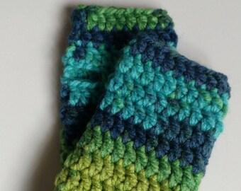 READY TO SHIP, Medium Fingerless Gloves, Winter Gloves, Crocheted Gloves, Handmade, Women's Gloves, Gift, Men's Gloves