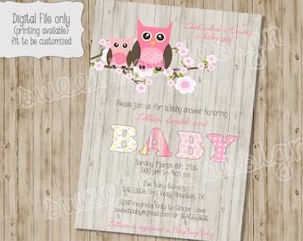 Owl baby shower invitation etsy owl baby shower invitation owl baby shower wood owl woodland baby shower owl theme baby shower baby shower invitation filmwisefo