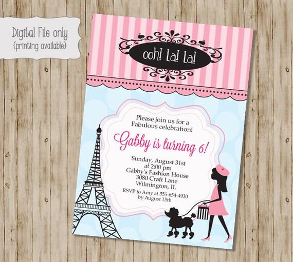Paris birthday invitation french birthday party invitation etsy image 0 filmwisefo