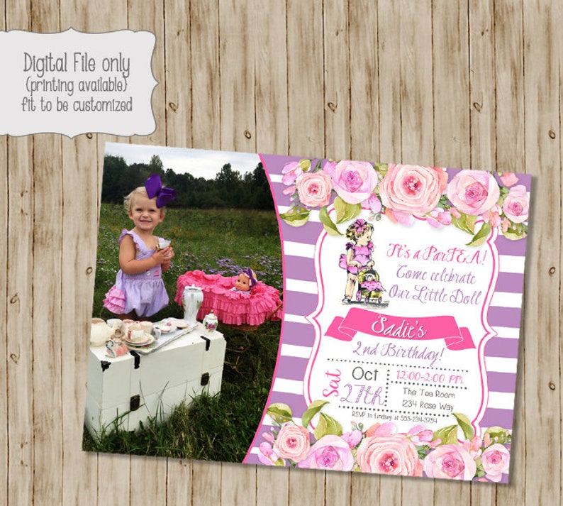 Baby Doll Birthday Invitation Little