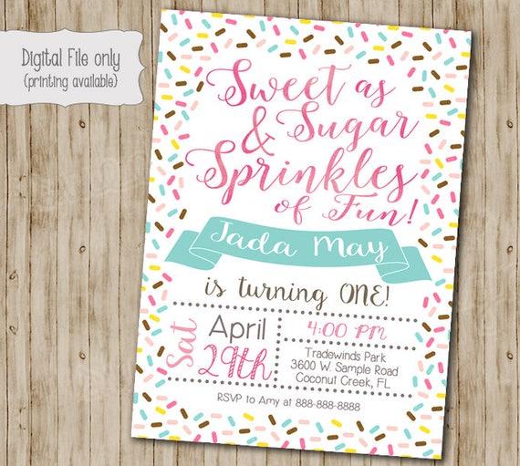 Sprinkles birthday invitation birthday invitation sprinkle etsy image 0 filmwisefo