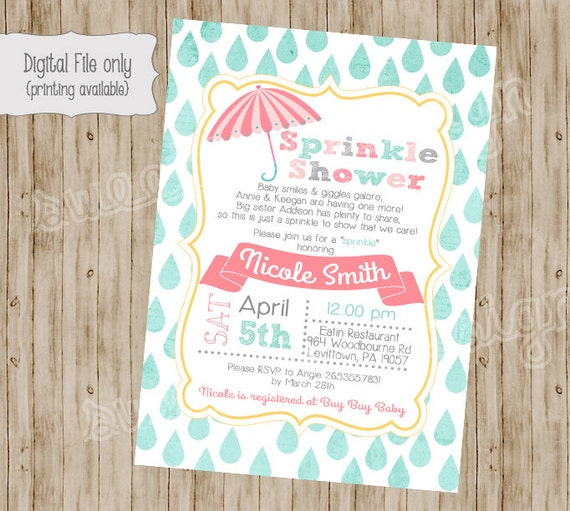Baby shower invitation baby sprinkle invitation sprinkle etsy image 0 filmwisefo