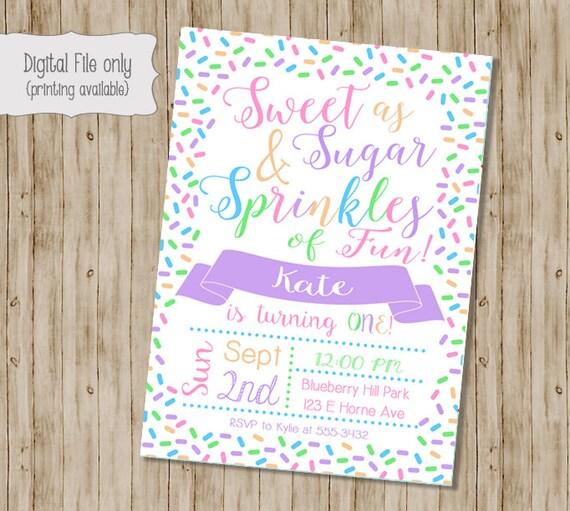 Sprinkle birthday invitation birthday invitation girl etsy image 0 filmwisefo