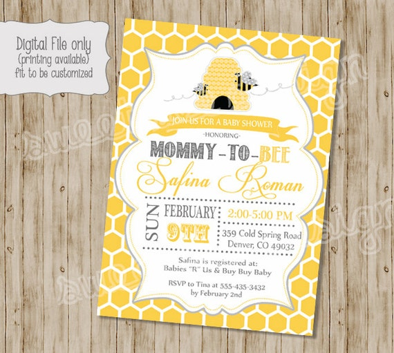 Bee baby shower invitation mommy to bee bee shower baby etsy image 0 filmwisefo