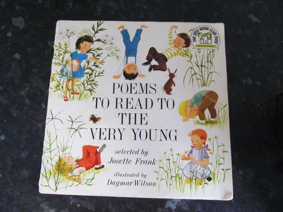 Vintage Kinder Poesie Buch Kindergarten Gedichte Zu Lesen Um Die Sehr Jungen Josette Frank Fab Illustrationen Mid Century 60er Jahre 70er Jahre