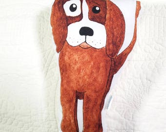 Brown Puppy Dog pillow plush Ready to Ship