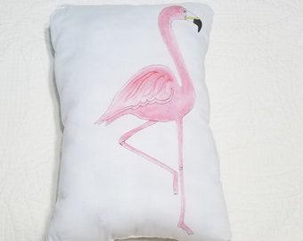 Flamingo pillow Home Decor  15x10.5 original art