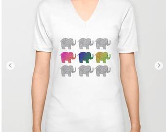 Nine Elephants T Shirt 3 styles White  MADE TO ORDER