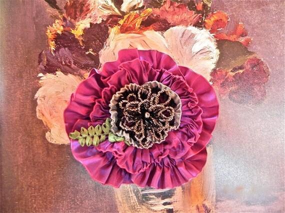 Antique Fuchsia Victorian Broach