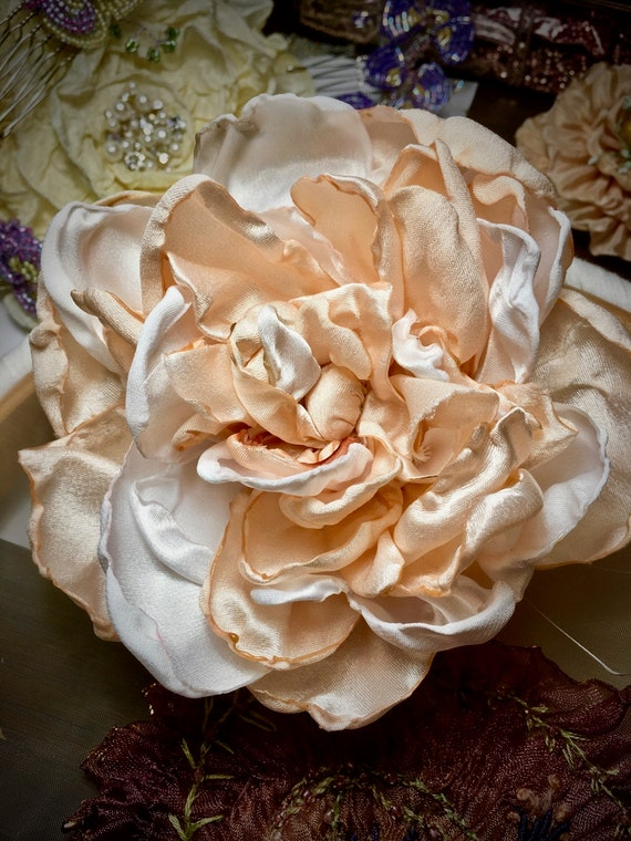 Radiant Spring Flowers, Ribbonwork flowers, Millinery appliqués, Wedding Bouquet, Corsage, hat making, embellishments, fabric flowers,