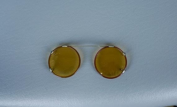 40s - 50s Sunglasses, Round FitOver, Clip On Sungl